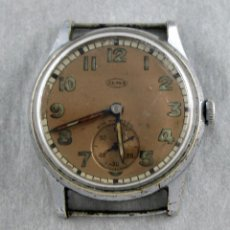 raro reloj de cuerda elma, 33 mm scc no funciona.