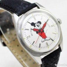 Relojes de pulsera: RELOJ MICKEY MOUSE HMT, DE CUERDA, NUEVO DE ANTIGUO STOCK, 70S, 35 MM SCC, FUNCIONANDO.. Lote 147167178