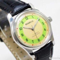 Relojes de pulsera: RELOJ BENRUS, DE HOMBRE, 35 MM SCC, NUEVO DE ANTIGUO STOCK, 70S, FUNCIONANDO.. Lote 147173218