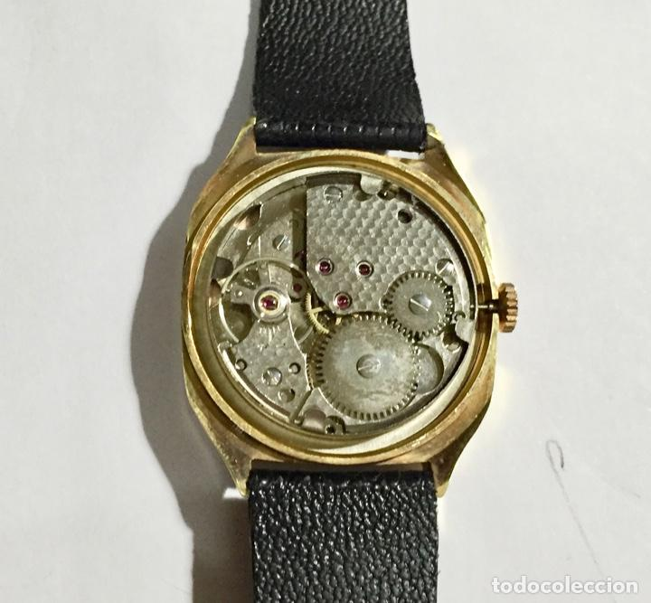 Relojes de pulsera: VINTAGE CIBEL CAL.FE. CAJA PLAQUE ORO DE 33 M/M.C/C. SEGUNDERO ,CALENDARIO, ANTICHOC . - Foto 2 - 147215394