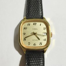 Relojes de pulsera: VINTAGE CIBEL CAL.FE. CAJA PLAQUE ORO DE 33 M/M.C/C. SEGUNDERO ,CALENDARIO, ANTICHOC .. Lote 147215394