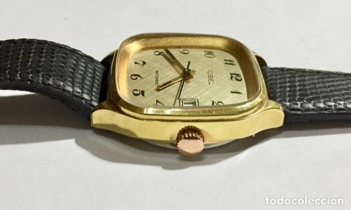 Relojes de pulsera: VINTAGE CIBEL CAL.FE. CAJA PLAQUE ORO DE 33 M/M.C/C. SEGUNDERO ,CALENDARIO, ANTICHOC . - Foto 4 - 147215394