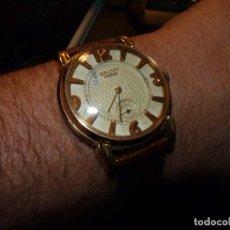 Relojes de pulsera: ENORME RELOJ CAUNY PRIMA SWISS MADE 40MM ETA 853 PRECIOSO 15 RUBIS AÑOS 50 TIPO CYMA OMEGA. Lote 147228610