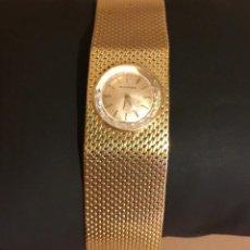 Relojes de pulsera: MOVADO RELOJ PULSERA BRAZELETE TIPO MALLA MUJER MANUAL SUIZA ORO AÑOS 1960 VINTAGE. Lote 147243530