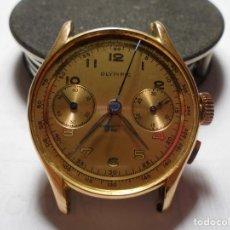 Relojes de pulsera: MAGNIFICO ANTIGUO RELOJ OLIMPIC CHRONOMETER EN ORO 18K,RELOJ DE CABALLERO,SALIDA 1 EURO. Lote 147249234