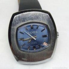 Relojes de pulsera: RELOJ VINTAGE SAMBE DE CARGA MANUAL, SWISS MADE - CAJA 34 MM - FUNCIONANDO. Lote 180618827