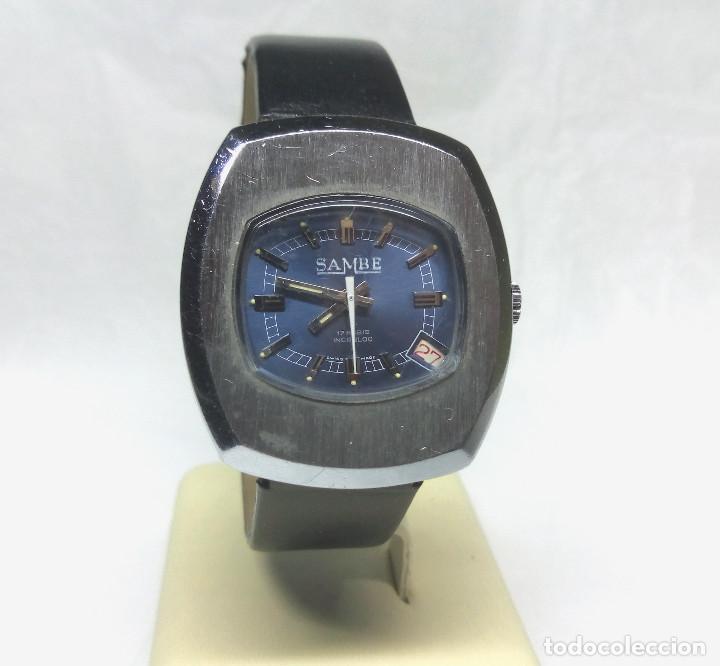 Relojes de pulsera: RELOJ VINTAGE SAMBE DE CARGA MANUAL, SWISS MADE - CAJA 34 mm - FUNCIONANDO - Foto 2 - 180618827
