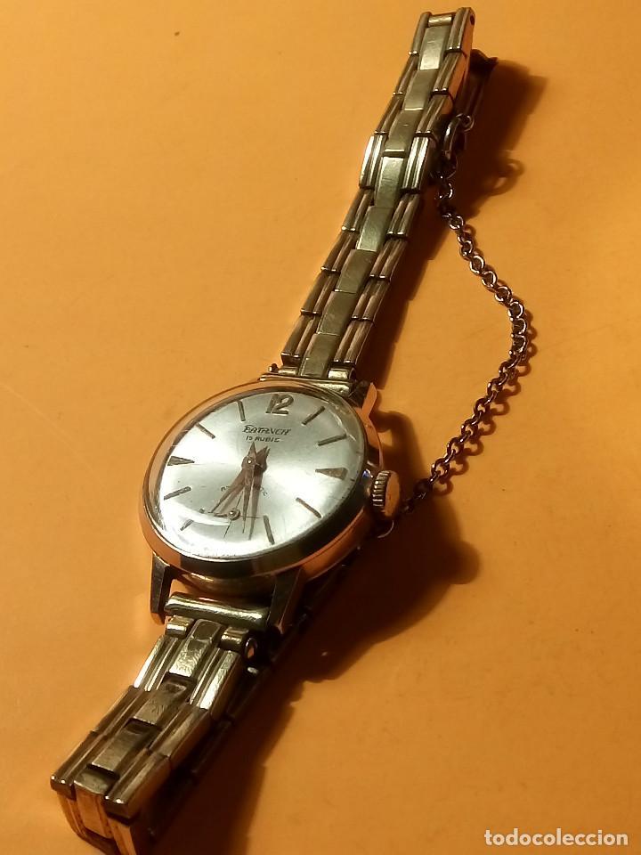 Relojes de pulsera: RELOJ SUIZO DE SEÑORA. AÑOS 50. FUNCIONANDO. TESTADO Y PERFECTO. P.ORO. RELOJ Y PULSERA. DESC. FOTOS - Foto 2 - 147837102