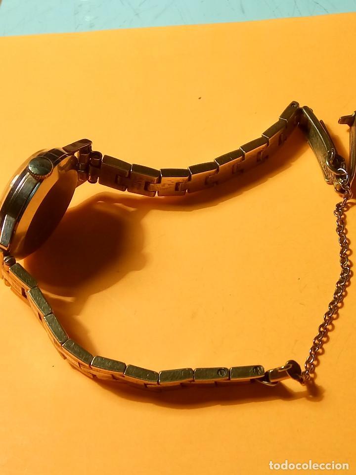 Relojes de pulsera: RELOJ SUIZO DE SEÑORA. AÑOS 50. FUNCIONANDO. TESTADO Y PERFECTO. P.ORO. RELOJ Y PULSERA. DESC. FOTOS - Foto 6 - 147837102