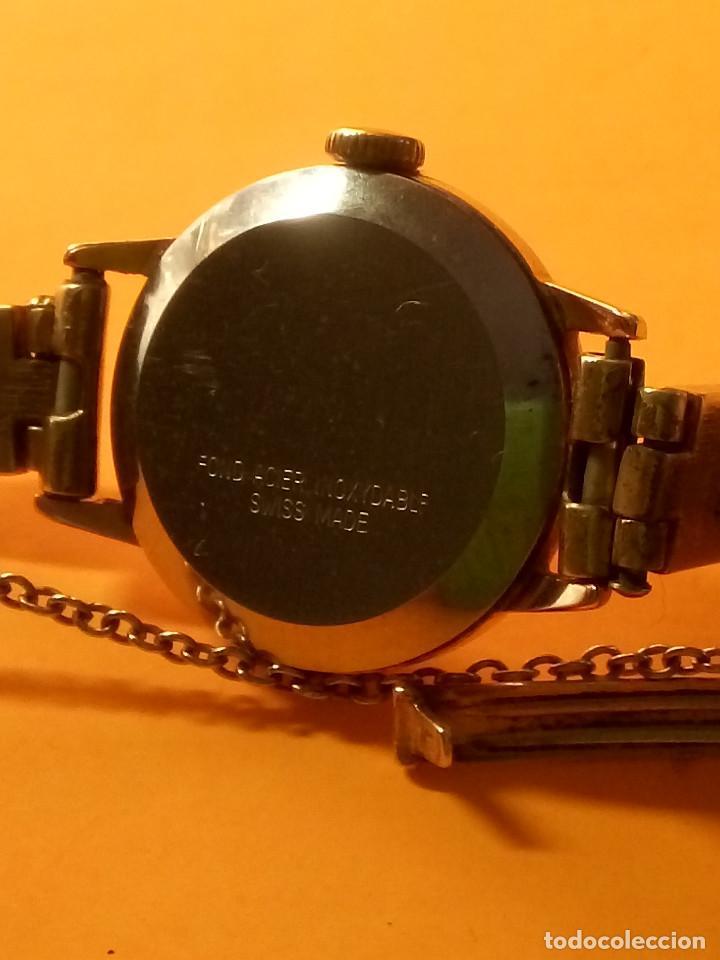 Relojes de pulsera: RELOJ SUIZO DE SEÑORA. AÑOS 50. FUNCIONANDO. TESTADO Y PERFECTO. P.ORO. RELOJ Y PULSERA. DESC. FOTOS - Foto 8 - 147837102