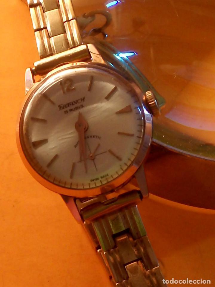 Relojes de pulsera: RELOJ SUIZO DE SEÑORA. AÑOS 50. FUNCIONANDO. TESTADO Y PERFECTO. P.ORO. RELOJ Y PULSERA. DESC. FOTOS - Foto 10 - 147837102
