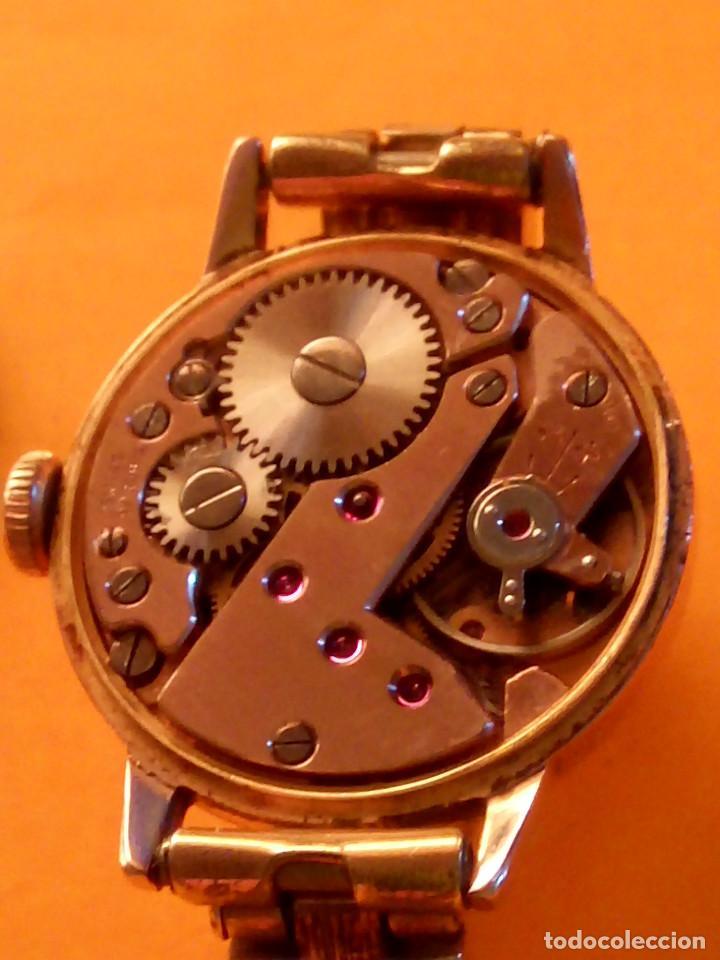 Relojes de pulsera: RELOJ SUIZO DE SEÑORA. AÑOS 50. FUNCIONANDO. TESTADO Y PERFECTO. P.ORO. RELOJ Y PULSERA. DESC. FOTOS - Foto 11 - 147837102