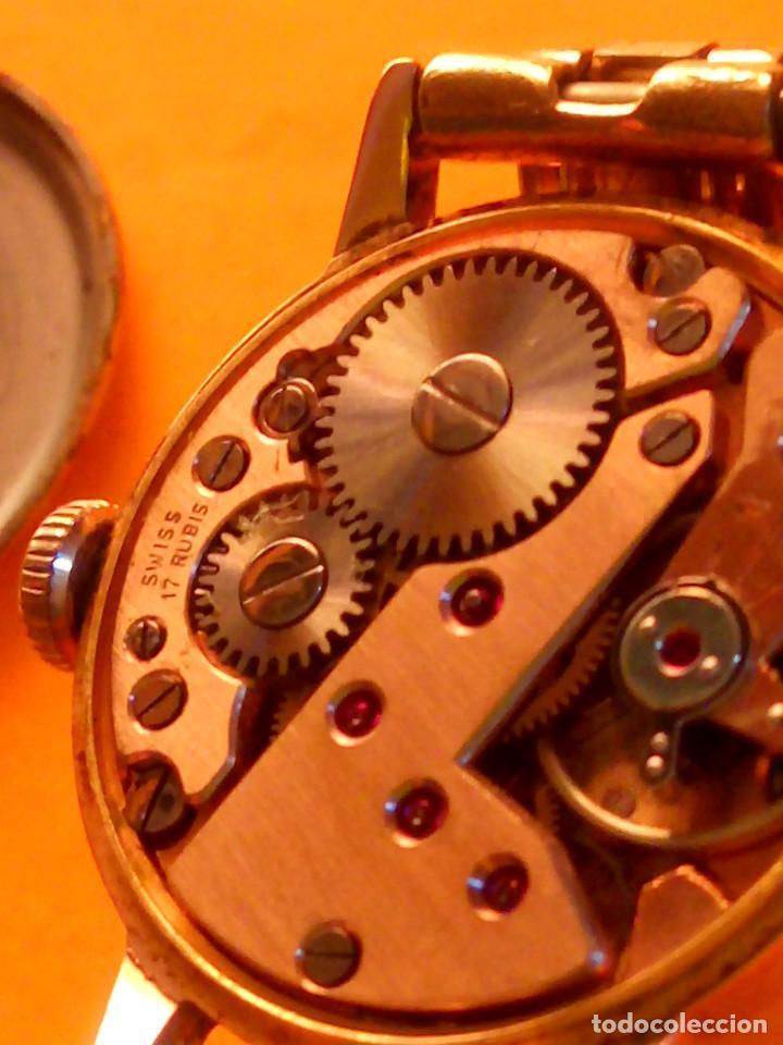 Relojes de pulsera: RELOJ SUIZO DE SEÑORA. AÑOS 50. FUNCIONANDO. TESTADO Y PERFECTO. P.ORO. RELOJ Y PULSERA. DESC. FOTOS - Foto 12 - 147837102