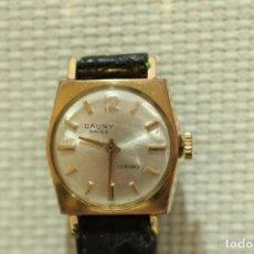 Relojes de pulsera: ANTIGUO RELOJ PULSO CAUNY PRIMA 17 RUBIS SUIZO PLAQUÊ OR. Lote 147922618