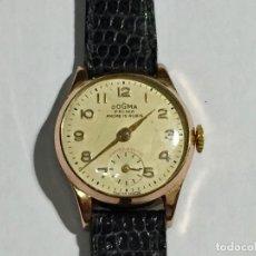 Relojes de pulsera: VINTAGE DOGMA PRIMA ANCRE 15 RUBIS, MUJER , 20 MICRAS PULSERA DE PIEL.. Lote 148121542
