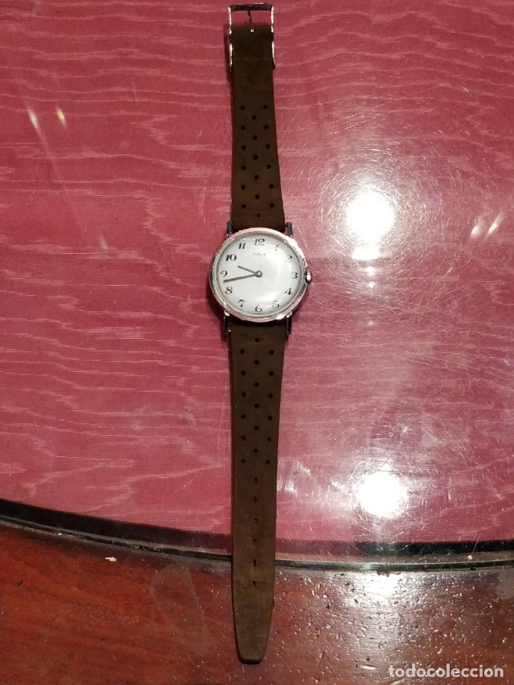 Relojes de pulsera: RELOJ DE PULSERA TIMEX CUERDA . FUNCIONANDO PERFECTAMENTE - Foto 2 - 80804855