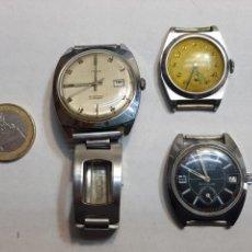 Relojes de pulsera: LOTE RELOJES CUERDA THERMIDOR, TIMEX Y OTRO. Lote 148521842