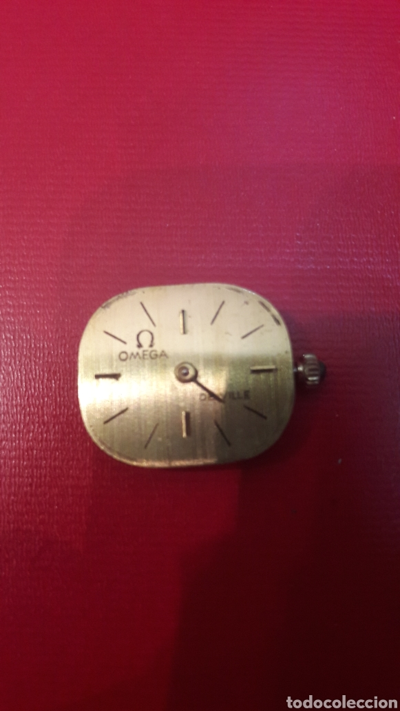 OMEGA ORO MAQUINARIA FUNCIONANDO CUERDA MONTADA CON RUBIS PERTENECIO RELOG ORO 17 JEWELS DEVILLE (Relojes - Pulsera Carga Manual)