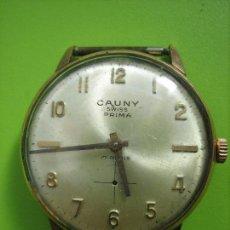 Relojes de pulsera: RELOJ DE CABALLERO CAUNY. FUNCIONA. FALTA AGUJA DE SEGUNDERO. Lote 148929130