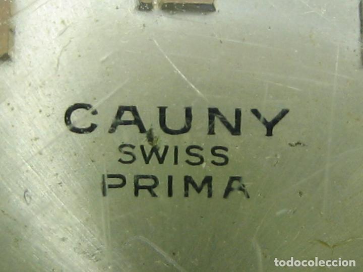 Relojes de pulsera: Reloj de caballero Cauny. Funciona. Falta aguja de segundero - Foto 3 - 148929130