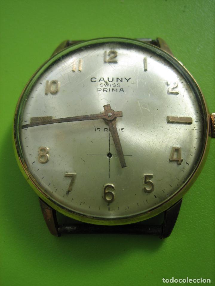 Relojes de pulsera: Reloj de caballero Cauny. Funciona. Falta aguja de segundero - Foto 5 - 148929130