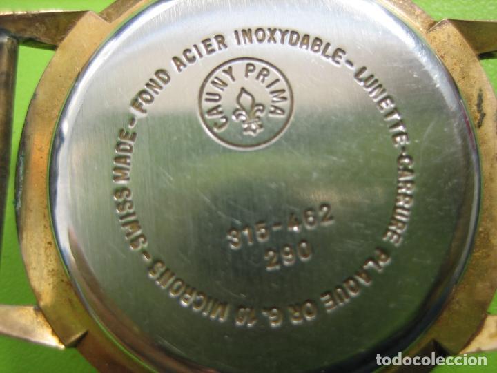 Relojes de pulsera: Reloj de caballero Cauny. Funciona. Falta aguja de segundero - Foto 7 - 148929130