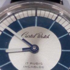 Relojes de pulsera: RELOJ ANTIGUO CRISTAL WATCH 3 ATMOSFERAS. Lote 148936290