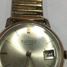 Relojes de pulsera - reloj thermidor carga manual,funciona chapado en oro sin golpes - 148937018