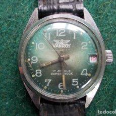 Relojes de pulsera: RELOJ SUIZO VANROY 17 JEWELS FUNCIONA. Lote 149062806