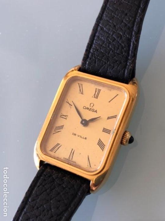 Relojes de pulsera: RELOJ A CUERDA OMEGA DE VILLE LADY CHAPADO EN ORO AÑO 70 - Foto 2 - 149170954