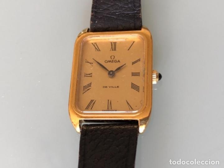 Relojes de pulsera: RELOJ A CUERDA OMEGA DE VILLE LADY CHAPADO EN ORO AÑO 70 - Foto 3 - 149170954