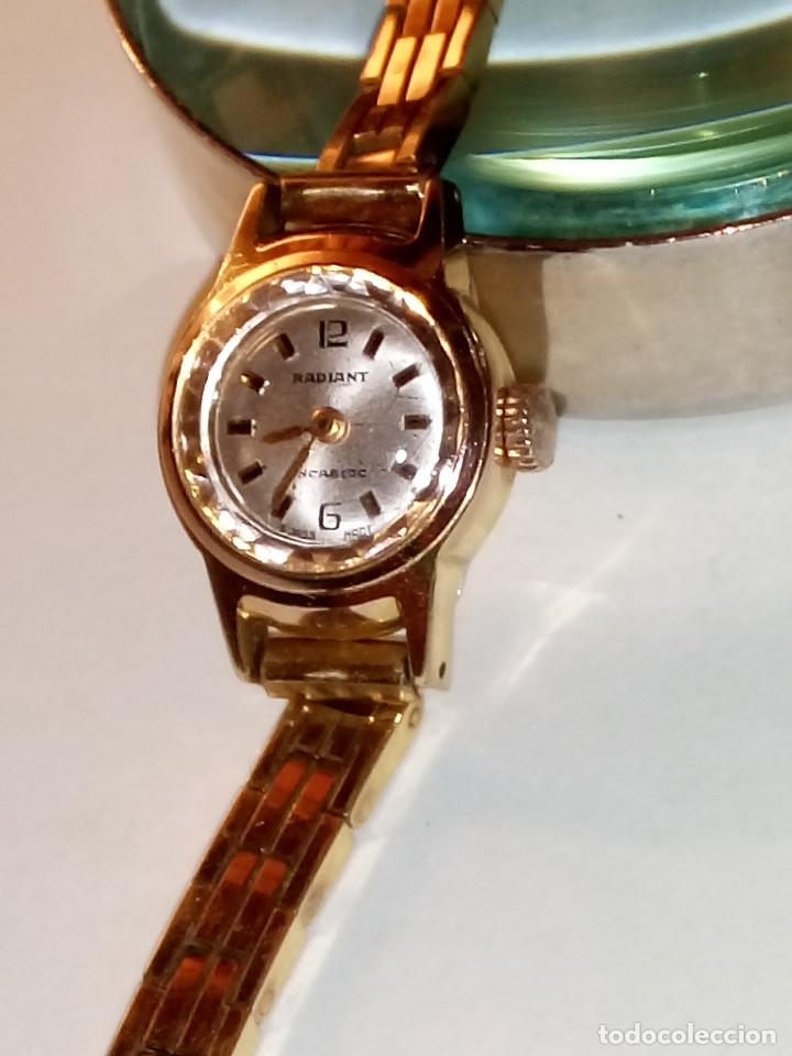 Relojes de pulsera: ANTIGUO RADIANT MANUAL. DE SEÑORA. IMPECABLE. TODO EN PLAQUE ORO. AÑOS 50. FUNCIONANDO. DESCRIP. Y - Foto 2 - 149204938