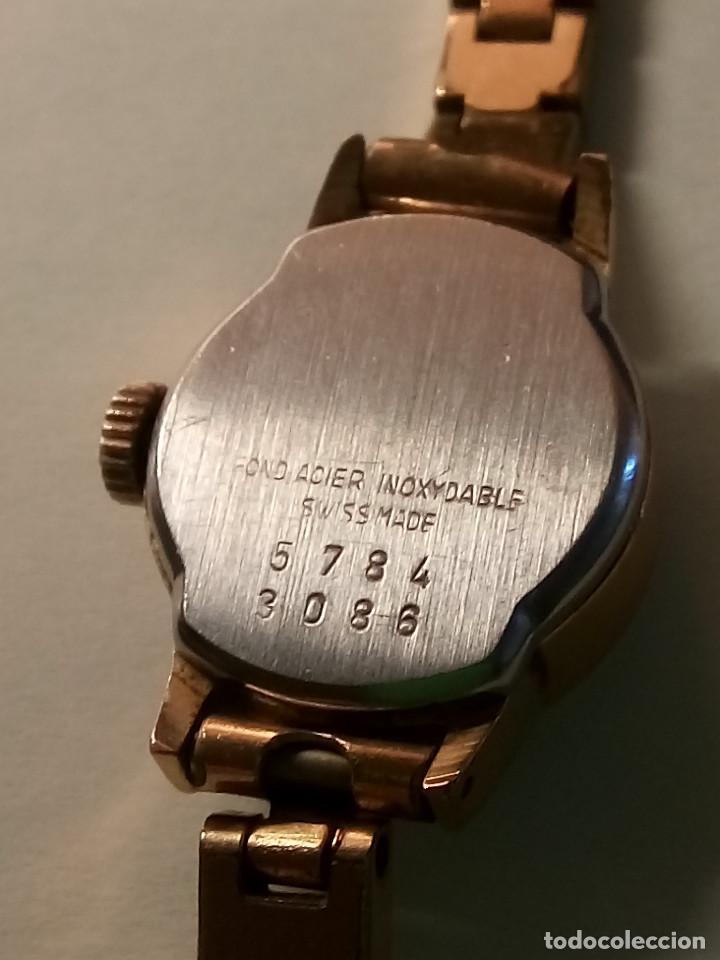 Relojes de pulsera: ANTIGUO RADIANT MANUAL. DE SEÑORA. IMPECABLE. TODO EN PLAQUE ORO. AÑOS 50. FUNCIONANDO. DESCRIP. Y - Foto 5 - 149204938
