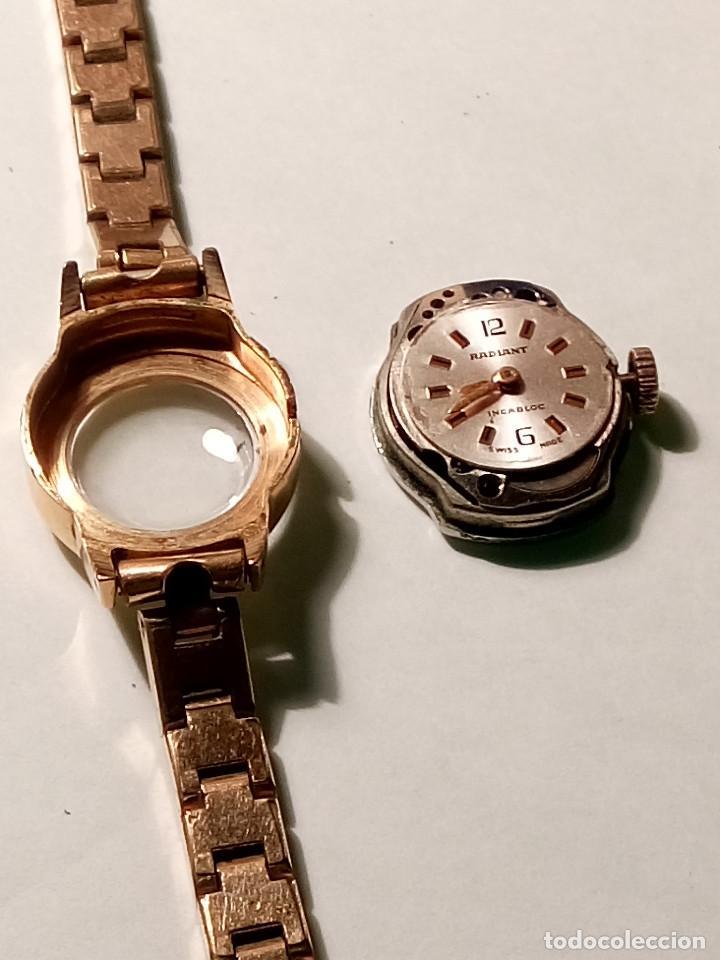 Relojes de pulsera: ANTIGUO RADIANT MANUAL. DE SEÑORA. IMPECABLE. TODO EN PLAQUE ORO. AÑOS 50. FUNCIONANDO. DESCRIP. Y - Foto 10 - 149204938