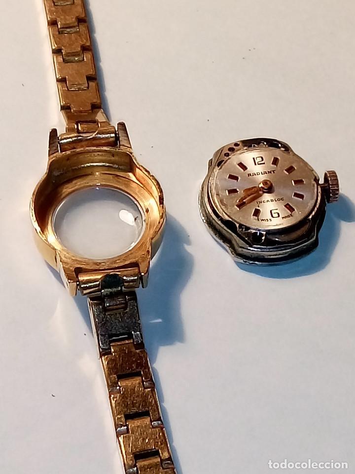 Relojes de pulsera: ANTIGUO RADIANT MANUAL. DE SEÑORA. IMPECABLE. TODO EN PLAQUE ORO. AÑOS 50. FUNCIONANDO. DESCRIP. Y - Foto 11 - 149204938