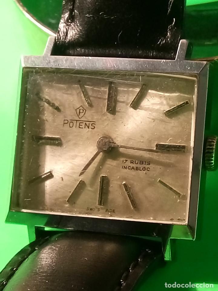 ANTIGUO POTENS MANUAL. AÑOS 50. FUNCIONANDO. DESCRIPCION Y FOTOS. (Relojes - Pulsera Carga Manual)