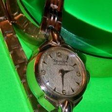 Relojes de pulsera: ANTIGUO REWELLIM SUIZO. DE SEÑORA. AÑOS 40/50. FUNCIONANDO. P.ORO RELOJ Y PULSERA. DESCRIP. Y FOTOS. Lote 149291654