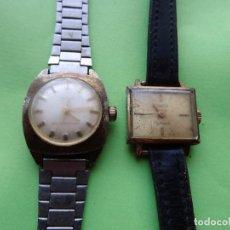 Relojes de pulsera: TIMEX + DUWARD 2 ANTIGUOS RELOJES DE PULSERA SE SEÑORA DE CUERDA FUNCIONAN. Lote 149296790