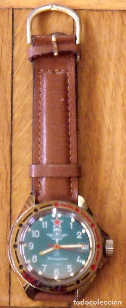 RELOJ RUSO VOSTOK KOMANDIRSKIE. CON PARACAÍDAS. EJÉRCITO DEL AIRE. AÑOS 70. 40 MM. FUNCIONA. (Relojes - Pulsera Carga Manual)