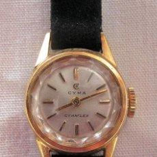 Relojes de pulsera: RELOJ DE CUERDA CYMA CYMAFLEX SRA PLAQUÉ ORO. Lote 149604350