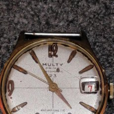 Relojes de pulsera: RELOJ MULTY PRIMA DELUXE, ANTIMAGNETIC, C.M.G 78A. FUNCIONANDO. Lote 150070650