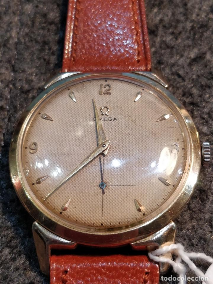 RELOJ OMEGA, BAÑO DE ORO DE 80 MICRAS, 17 JEWELS. FUNCIONANDO (Relojes - Pulsera Carga Manual)