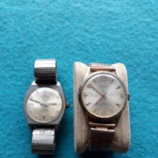 Relojes de pulsera: LOTE DE 2 RELOJES MECÁNICOS. CLÁSICOS DE CABALLERO. Lote 150151702