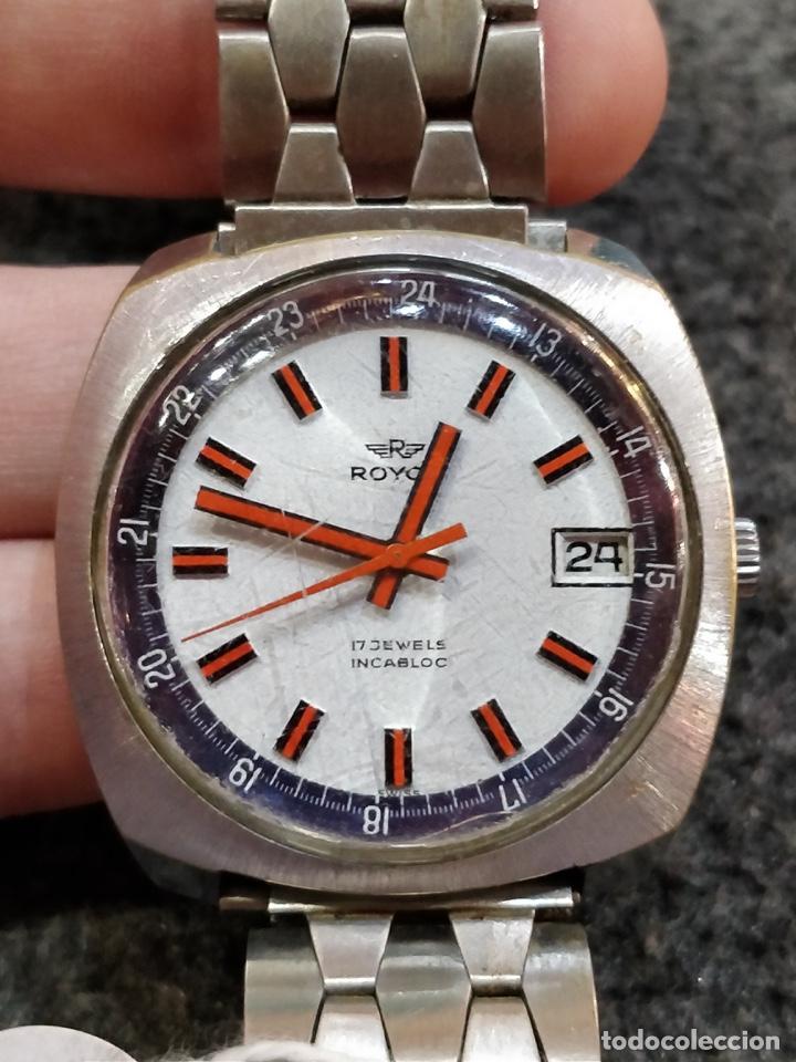 RELOJ ROYCE, 17 JEWELS INCABLOC, FUNCIONANDO (Relojes - Pulsera Carga Manual)