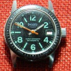 Relojes de pulsera: ANTIGUO RELOJ MECANICO AÑOS 50 - MARCA IVOIRE FRANCE - STAINLESS - PARA PIEZAS O VITRINA. Lote 150193942