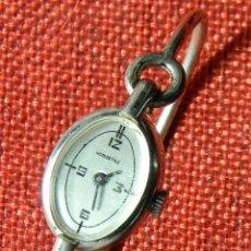Relojes de pulsera: ANTIGUO RELOJ MECANICO AÑOS 50 - MARCA HOELOARYLE - VITRINA O PIEZAS. DIAMETRO: 17 MM. Lote 150261698
