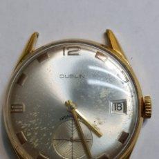Relojes de pulsera: RELOJ ANTIGUO DE CUERDA DUBLÍN PLAQUE ORO. Lote 150473210