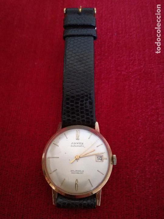 RELOJ ANKER AUTOMATIC Y ESTUCHE ORIGINAL OMEGA (Relojes - Pulsera Carga Manual)