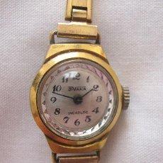 Relojes de pulsera: RELOJ DE CUERDA SEÑORA ANTIGUO PLAQUE ORO. Lote 150556690