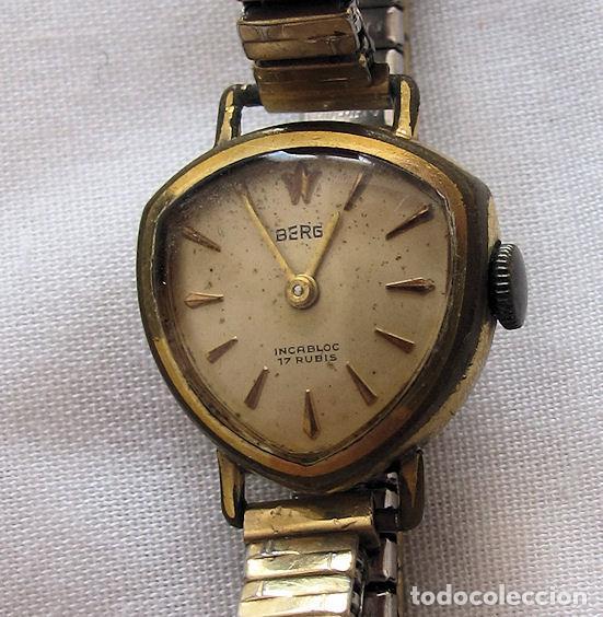 RELOJ DE CUERDA SEÑORA TRIANGULAR RARO (Relojes - Pulsera Carga Manual)